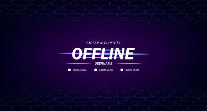modern twitch background screensaver offline stream gaming with hexagon frame background