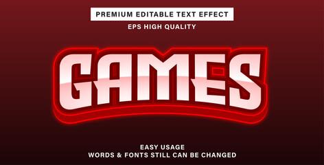 Wall Mural - Games editable text effect