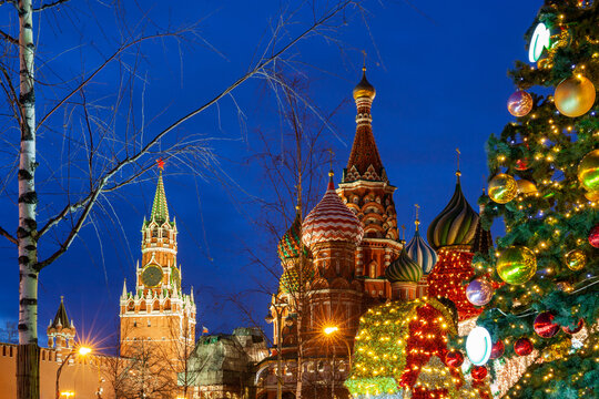 Christmas Tree on the Red Square, Moscow, Russia