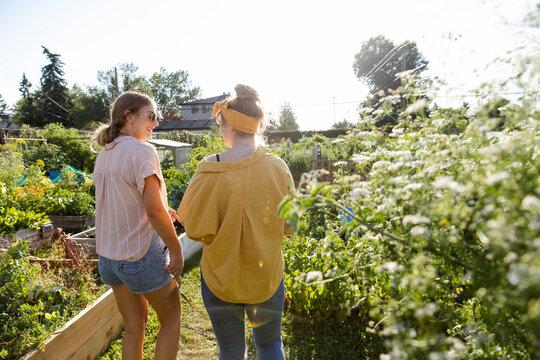 Friends in community garden
