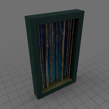 Shadowbox frame of trees 2