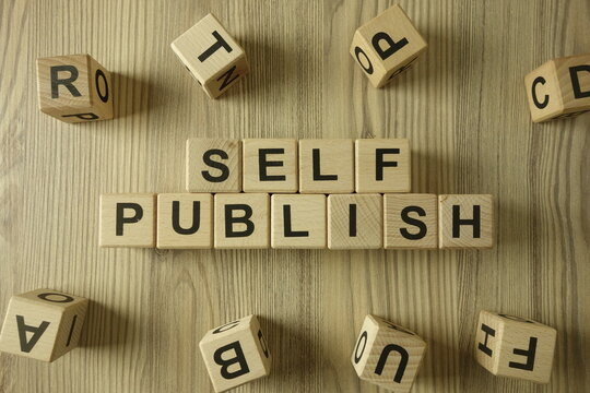 Text self publish from wooden blocks