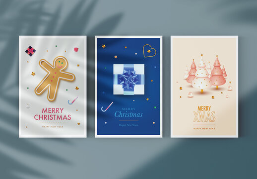 Christmas Greeting Postcard Layout