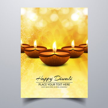 yellow booklet with lights diwali