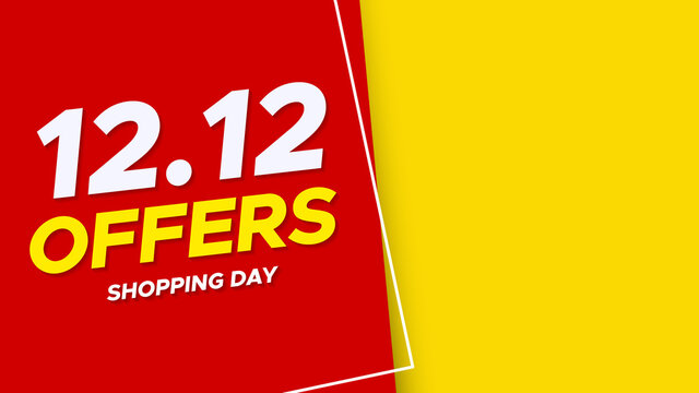 12.12 Shopping day sale poster or flyer design. 12.12 Crazy sales online. EPS 10