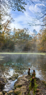 Early Morning Fog at Wes Skiles Peacock Springs State Park, Florida