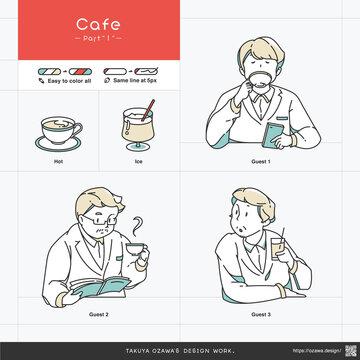 simple illustration set of cafe_part1
