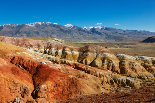 """Martian landscape"" in the Kyzyl-Chin tract, Chui steppe, Gorny Altai, Russia"