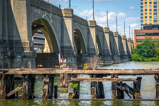 A historic viaduct from Boston to Cambridge