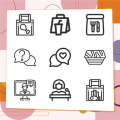 Fototapeta Simple set of 9 icons related to aside obraz