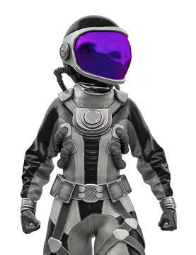 astronaut girl portrait
