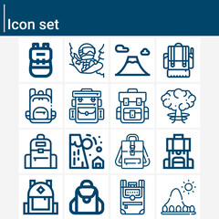 Fototapeta Simple set of facilities related lineal icons. obraz