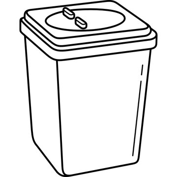 Medical sharps disposal container