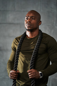 Portrait of young black male athlete