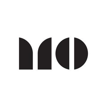 MO initial letter logo template vector icon design