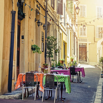 Nice cosy cafe in Marseille, France