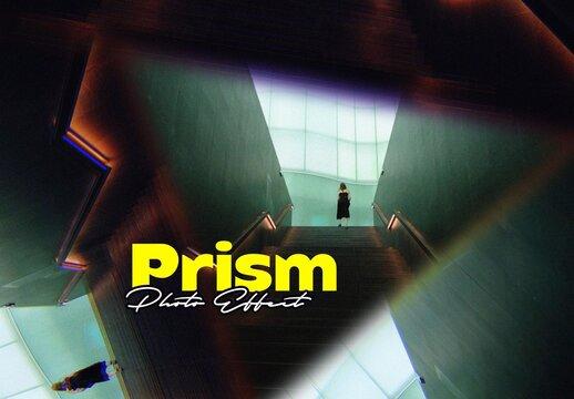 Prism Lens Photo Effect Mockup