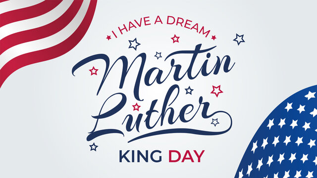 Martin Luther King Day Poster Or Banner Background