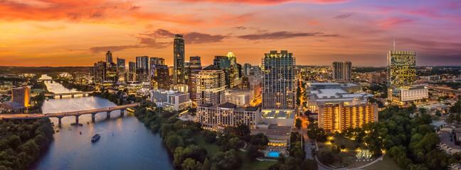 Austin sunset near the river