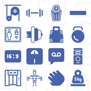16 pack of coefficient  filled web icons set