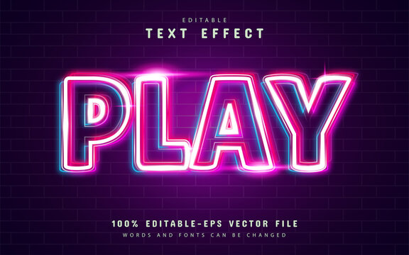 Play shiny outline text effect