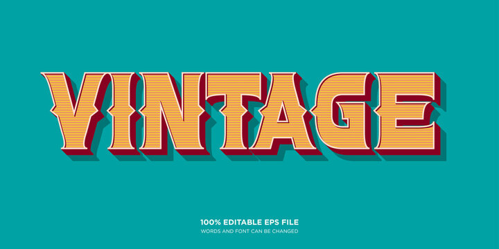 Vintage Western text style effect
