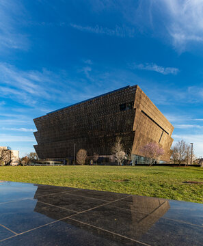 Washington D.C., United States of America - April 1, 2019: A picture of the National Museum of African American History and Culture.