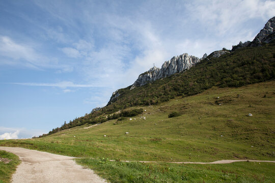 Kampenwand, mountain in Bavaria, Germany