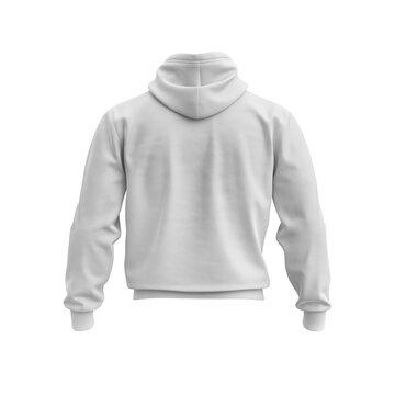 sweatshirt back view isolated mockup on white background