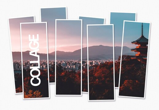 Gallery Photo Collage Mockup