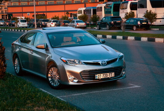 Batumi. Georgia - October 26, 2020: Toyota Avalon on the streets of Batumi