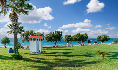 Wall Mural - Landscape with beach  in Rhodes islands, Greece