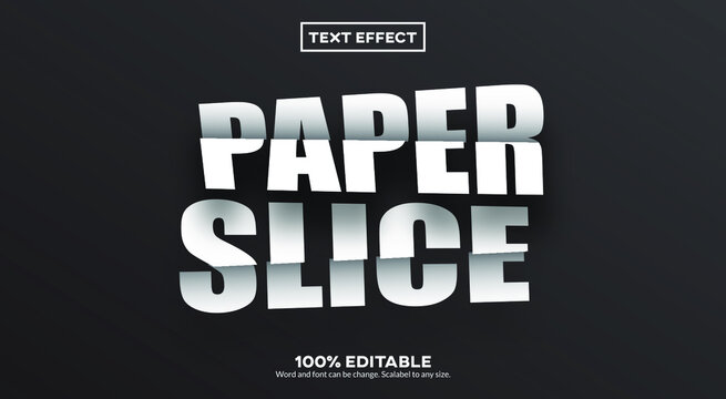 Paper Slice Text Effect