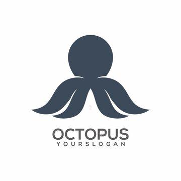 Logo illustration Octopus sillhouette Vector design