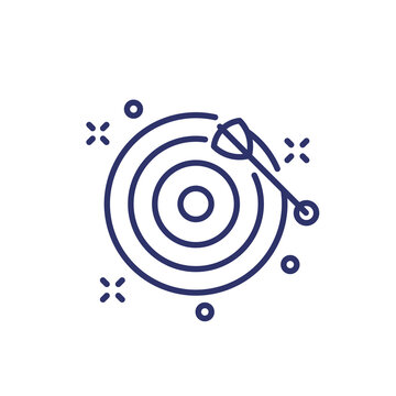 missed target line icon on white