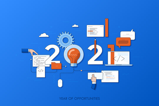 Infographic concept 2021 year of opportunities