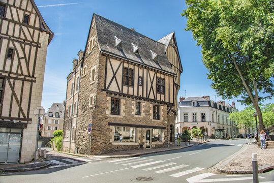 Maison à pans de bois d'Angers,  Quartier de la Doutre, France