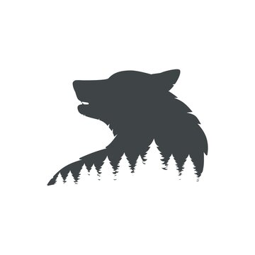 The wolf's head and the forest