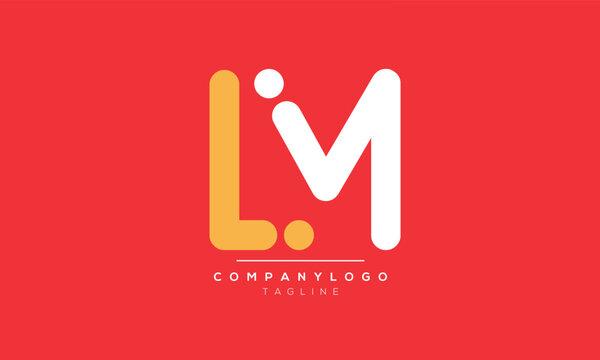 Alphabet letters Initials Monogram logo LM,ML