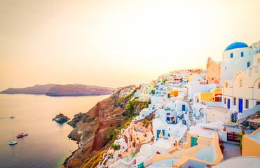 beautiful details of Santorini island, Greece