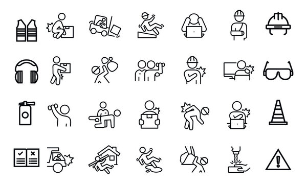 Workplace Injury icons vector design