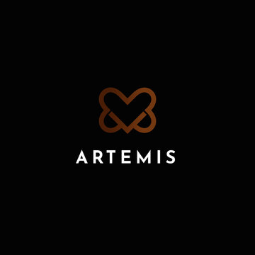 ARTEMIS   Template Logo Love Icon with variation object