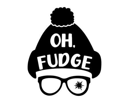 Oh Fudge! Svg, Christmas SVG, Merry Christmas SVG, Fudge Svg, Christmas Clip Art, Christmas Cut Files, Cricut, Silhouette Cut File 03