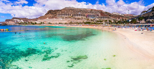 Best beaches of Grand Canary - Playa de los amadores. Canary islands of Spain