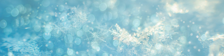 natural snowflakes, Winter snow background. Snowflake Closeup. Macro photo. Copy space. Banner ready
