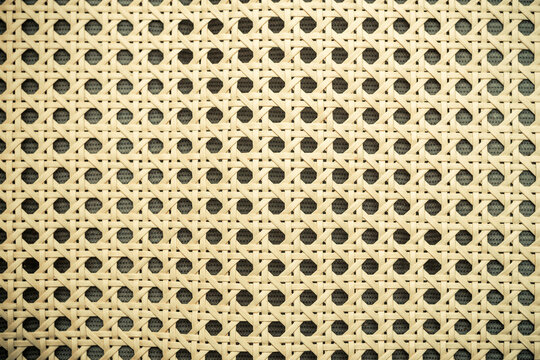 Texture of rattan reed netting
