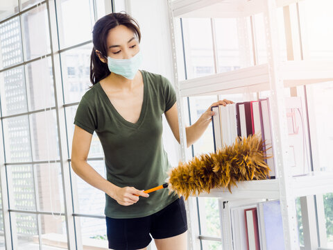 Young beautiful Asian woman, maid wearing casual clothes..