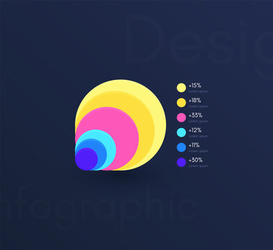 Vector graphics infographics with six options. Template for creating mobile applications, workflow layout, diagram, banner, web design, business reports with 6 steps.