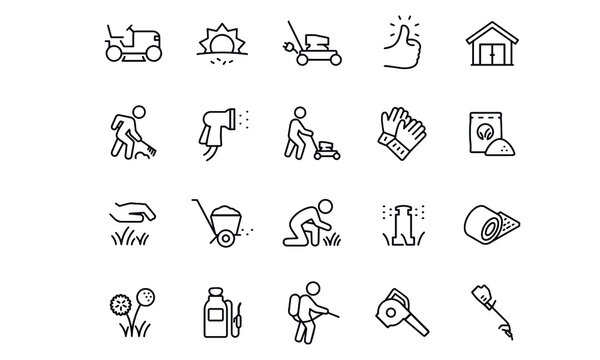 Lawn Care icons vector design