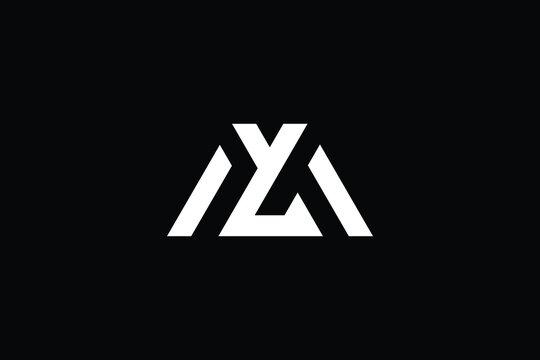 ML logo letter design on luxury background. LM logo monogram initials letter concept. ML icon logo design. LM elegant and Professional letter icon design on black background. M L LM ML